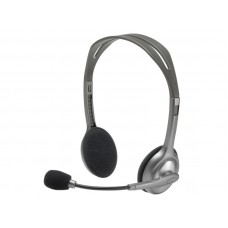 LOGITECH H110 sive slušalke z mikrofonom