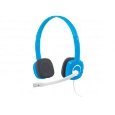 LOGITECH H150 stereo modre z mikrofonom slušalke