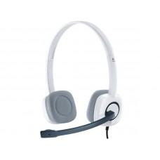 LOGITECH H150 stereo bele z mikrofonom slušalke
