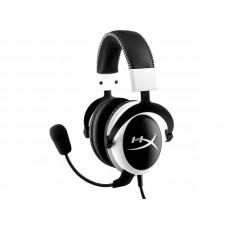 HYPERX Cloud (KHX-H3CLW) USB bele z mikrofonom gaming slušalke
