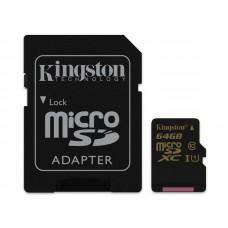 KINGSTON microSDXC 64GB Class10 UHS-I (SDCA10 / 64GB) spominska kartica