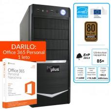 PCPLUS i-net A8-7600 4GB 1TB Windows 10 namizni računalnik + darilo: 1 leto Office 365 Personal