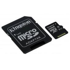KINGSTON microSDXC 64GB Class 10 UHS-I (SDC10G2 / 64GB) spominska kartica