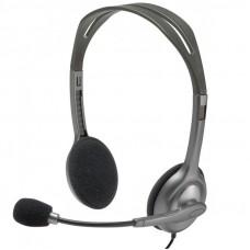 LOGITECH H111 sive slušalke z mikrofonom