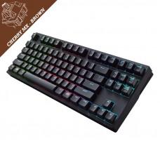 COOLER MASTER Master Keys Pro S RGB MX Brown žična črna RGB osvetljena mehanska slotisk tipkovnica