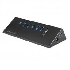 LC-POWER LC-HUB-ALU-2B-7 6+1-portni USB 3.0 zunanji z napajanjem USB hub