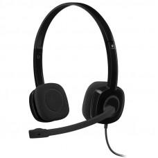 LOGITECH H151 stereo črne z mikrofonom slušalke