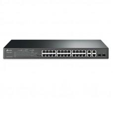 TP-LINK JetStream T1500-28PCT 24-port 24x10 / 100 4xgigabit Smart PoE+ 2x SFP mrežno stikalo-switch
