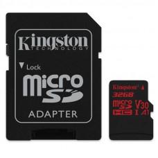 KINGSTON microSDHC 32GB Canvas React Class10 UHS-I U3 (SDCR / 32GB) spominska kartica