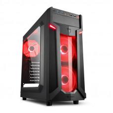 SHARKOON VG6-W midiATX okno LED(rdeča) črno ohišje