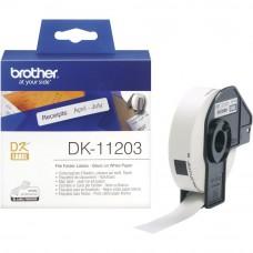 Brother DK11203 Nalepke za registratorje 17x87mm