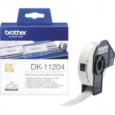 Brother DK11204 Večnamenske nalepke 17x54 mm