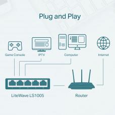 TP-Link mrežno stikalo LiteWave 5 port LS1005 10/100Mbps